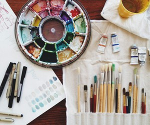 art, painting, and colors image
