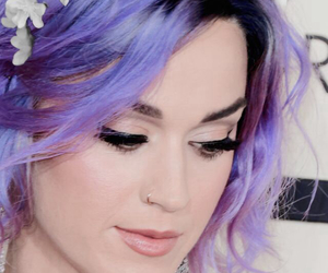 colored hair, flower, and flowers image