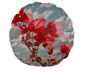 floral prints, flowers prints, and round cushions image