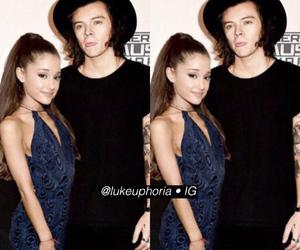 hariana, ariana grande, and Harry Styles image