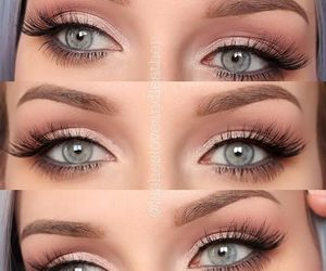 blue eyes, eyeshadow, and makeup image