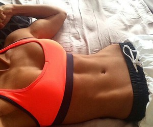 abs, fit, and girl image