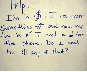 funny, music, and note image