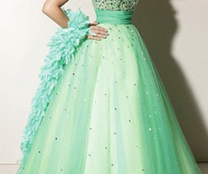 dress, girly, and green image