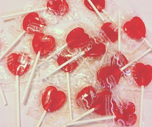 lollipop, heart, and candy image