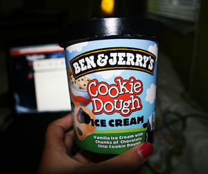 cookie dough, food, and nail image
