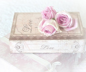 pink, love, and book image