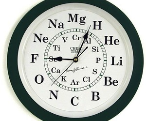 chemistry, clock, and geek image