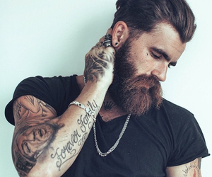 beard, ink, and Tattoos image