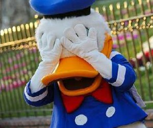 disney, donald duck, and love image