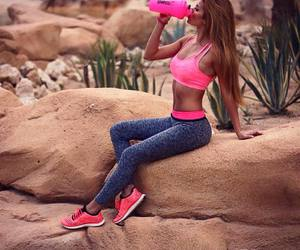 abs, drink, and healthy image