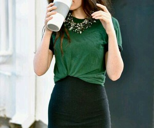 black, blouse, and green image