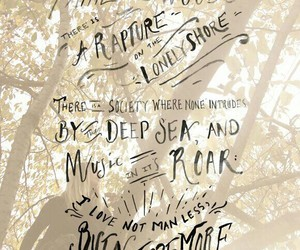 Lord Byron, nature, and quote image