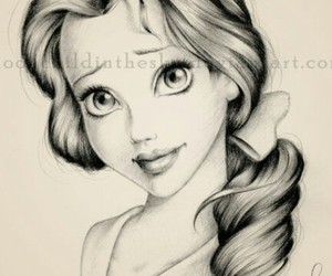 beauty, disney, and draw image
