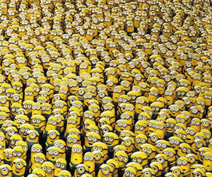 minions, yellow, and background image