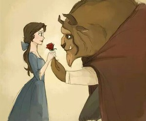 love, disney, and beast image