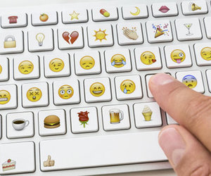 emoji, keyboard, and emojis image