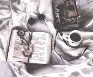 bed, book, and boho image