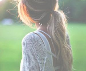 girl, hair, and ponytail image