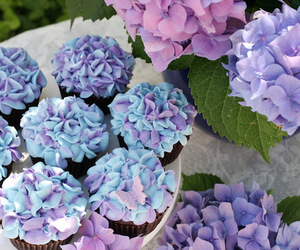 cupcake, flowers, and cute image
