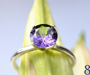 amethyst ring, february birthstone, and abish jewelry works image