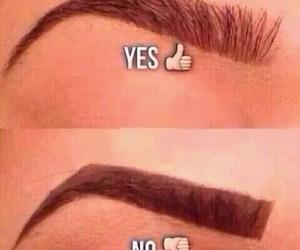 eyebrows, makeup, and no image