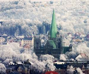 norway, trondheim, and winter image