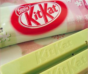food, chocolate, and kit kat image