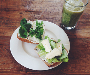 breakfast, food, and green image