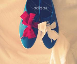 adidas, blue, and white image