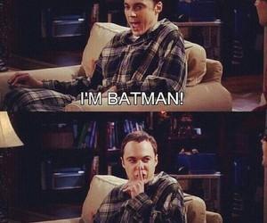 batman, sheldon, and the big bang theory image