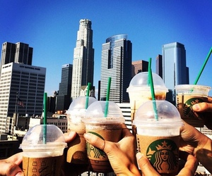 starbucks, friends, and drink image