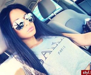brunette, car, and Hot image