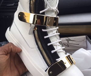 gold, shoes, and sneakers image