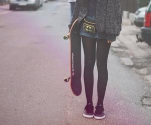 girl, skate, and batman image