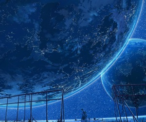 stars, anime, and planet image