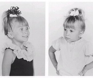 olsen, ashley olsen, and black and white image