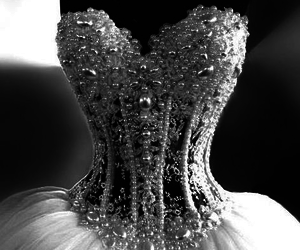 dress, luxury, and wedding dress image