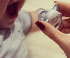 baby, cute, and nails image