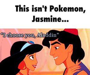 aladdin, disney, and funny image