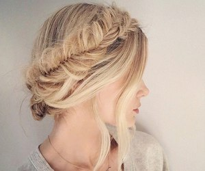 blonde, hairstyle, and fashion image