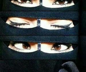 islam, niqab, and voilée image