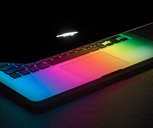 apple, rainbow, and colors image