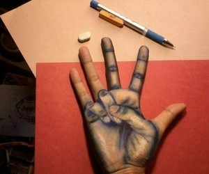 hand, art, and draw image