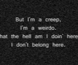 creep, radiohead, and weirdo image