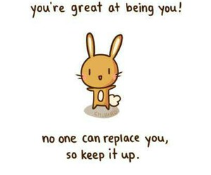 quote, bunny, and you image