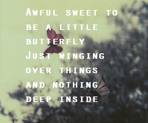 butterfly, sad, and text image