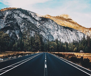 road, mountain, and nature image