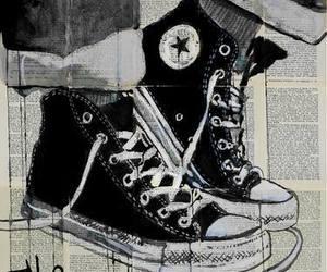 art, drawing, and converse image