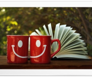 book, detente, and coffee image